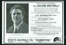 1923 Giovanni Martinelli photo Victor Records Italian vintage print ad
