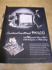 Original 1952 Philco Television Magazine Ad - Sensational New 20 Inch