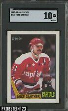 1987-88 O-Pee-Chee OPC #168 Mike Gartner Capitals HOF SGC 10