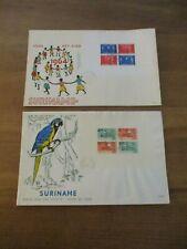 E33 en E40 - Blok Kinderzegels 1964 en 1965 op grote FDC's - Blanco