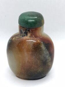Vintage Jade  Bottle with Brown Mottling