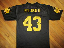 TROY POLAMALU PITTSBURGH STEELERS 43 JERSEY Black NFL Football Worn YOUTH LARGE