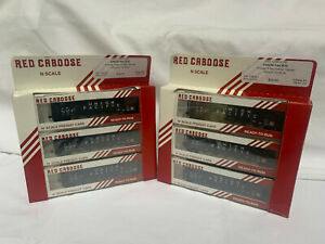 Red Caboose N Scale 5-Bay Ortner Hopper x 2 (6 freight cars)