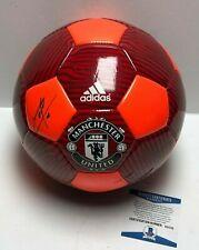 Anthony Martial & Jose Mourinho Signed Manchester United Soccer Ball BAS E51733