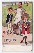 STUMPT: Cricket Illustrated comic postcard (C31477)