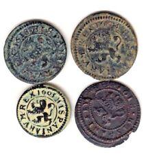 Cincin19,Bonito LOTE de 4 Monedas del Ingenio de Segovia