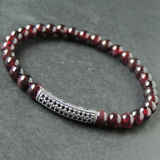 Modern Natural Red Garnet Gemstone Bracelets Balance Base Energy Chakra Stones