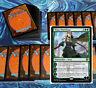 mtg GREEN LANDS PIONEER DECK Magic the Gathering rare cards nissa hydra multani
