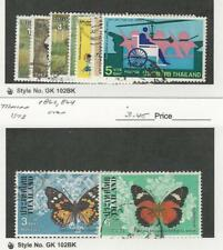 Thailand, Postage Stamp, #806-810, 816-7, 862, 864 Used, 1976-8 Butterfly