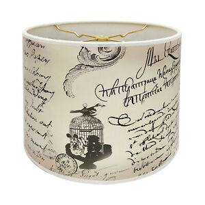 Decorative Handmade Lamp Shade -Made in USA - Vintage Letter Calligraphy Design