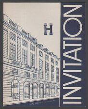 Carte d'invitation aux soldes d'ete chez Hermes. 1938