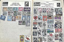 STAMP ALBUM FROM 1960s? CONTAINING APPROX. 450 STAMPS.