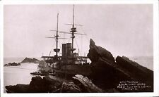 Lundy. HMS Montague Ashore Lundy Island by Twiss Bros.,Arcade, Ilfracombe.