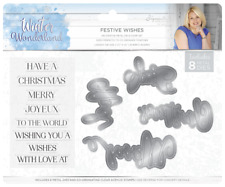 SALE New Sara Davies Winter Wonderland  Stamps and Die Set - Festive Wishes