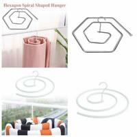 Round Spiral Shaped Sheet Quilt Blanket Hanger Rotating Clothes Drying Hook.
