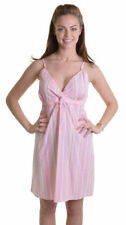 Cotton Nightdresses Shirts Striped Women's Lingerie & Nightwear