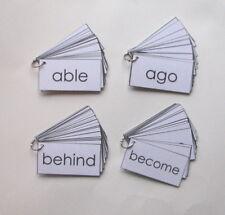 4 Teacher Made Second Grade Fry Words Fluency Flash Card Rings Sentences on Back