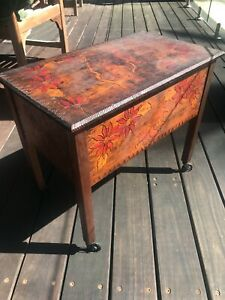 Antique small storage table