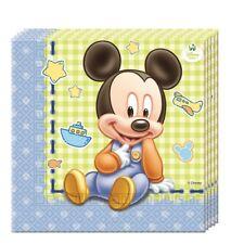 Bebé Mickey Mouse 20 servilletas almuerzo (fiesta/cumpleaños/niños/disney)