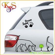 ☺Aufkleber  Auto  Sticker Möbel Tür Wandtattoo Hund Hand Pfote Dream Team (1) ☺