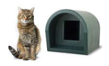 Mr Snugs Outdoor Cat Kennel House & Shelter - Dark Green Colour