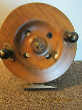 "ANTIQUE, WOODEN ""KNUCKLE BUSTER"" FISHING REEL"