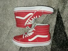 VAN'S SK8-HI HIGH TOP SKATEBOARD UNISEX SHOES MEN'S 6.0 WOMEN'S 7.5 RED/WHITE