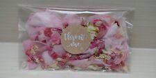 Rosa Pétalo Natural Biodegradable Boda Confeti Desecado Delphinium Bolsas Eco ,