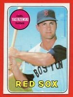 1969 Topps #130 Carl Yastrzemski EX+ MISCUT WRINKLE Boston Red Sox FREE SHIPPING