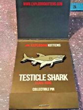 Exploding Kittens Collectible Enamel Pin ~ Testicle Shark ~ RARE ~ Ships FREE