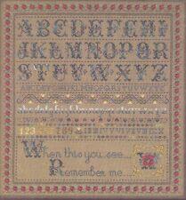 Stickvorlage  Kreuzstich,  Stickmustertuch Mustertuch  ROSE  Alphabet ABC