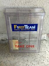 pair Outdoor Brochure Box Real Estate flyer Document Holder w First Team Logo