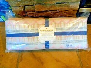 Organic Embroidered Pink Crib Bumper POTTERY BARN Girls Brand NEW Emily & Meritt
