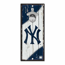 MLB New York Yankees NY Bottle Opener Wood Sign Holzschild Holz Wandschmuck