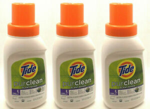 3 TIDE PURCLEAN PLANT BASED LAUNDRY DETERGENT TRAVEL SIZE 10 OZ NEW