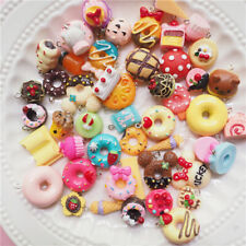30Pcs/Set Mini Cake ice cream pendant DIY decoration Charms Necklaces Jewelr zh