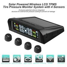 Solar LCD Car TPMS Tyre Tire Pressure Monitoring System with 4 External Sensors