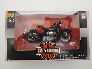 Maisto 1948 FL Panhead Harley Davidson Motorcycle 1:18 Series 10 NIB
