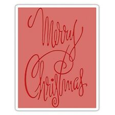 SIZZIX Texture Fades Embossing Folder FANCY MERRY CHRISTMAS 660998
