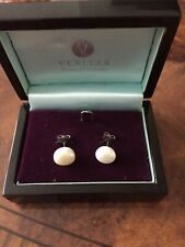 PAIR Pearl Earrings Studs Freshwater With Gift Box