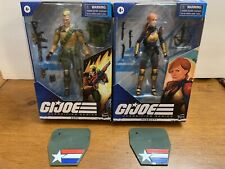 GI Joe Classified Duke & Scarlett NIB - W/ Custom Stands