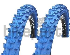 """2 Stück Fahrradreifen Kenda 24"""" MTB Reifen 24x1,95 (50-507) blau"""
