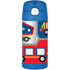 THERMOS Funtainer 355ml Vacuum Insulated Beverage Bottle Construction Vehicles!