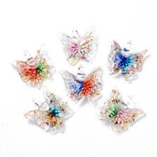 12pcs/box Mix Handmade Lampwork Glass Butterfly Pendant Finding Charm Making DIY