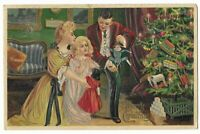 """Vintage Postcard """"Merry Christmas"""", Posted, Embossed, Divided Back"""