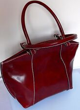 BORSA A MANO DONNA BAULETTO DONNA A SPALLA BORDEAUX PELLE IT BAG