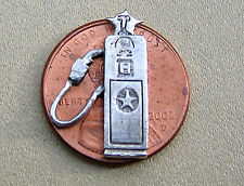 Texaco Gas Pump Charm Sterling Silver 3D Relief Car Vintage Cool* !!