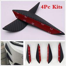 Universal 4Pcs Car Body Carbon Fiber Style Front Bumper Spoiler Canards Valances