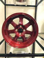 Ryver Wheels Si Brushed Royal Red 15x8 4x100 +20 DA DC2 EG EK