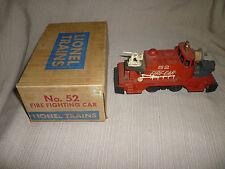 Vintage Postwar Lionel #52 Fire Car in Original Box